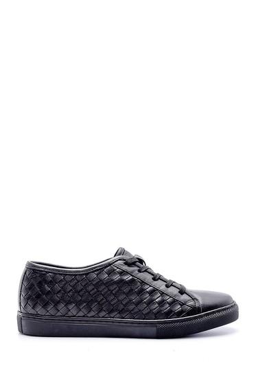 Siyah Kadın Deri Sneaker 5638159445
