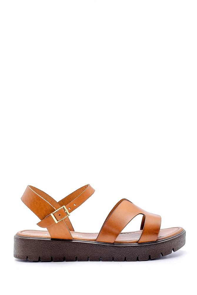 Kahverengi Kadın Deri Sandalet 5638161842