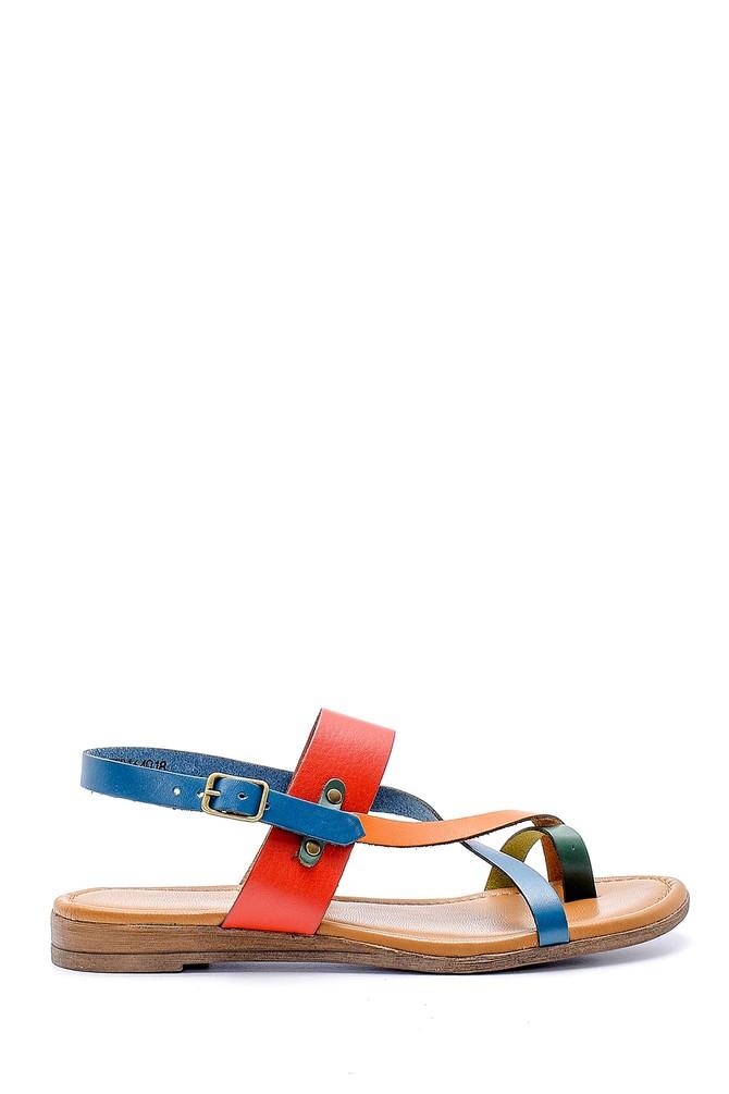 Multi Renk Kadın Deri Sandalet 5638161446