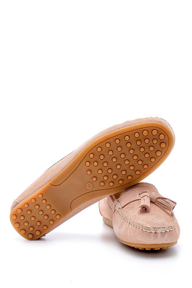 5638162059 Kadın Süet Püskül Detaylı Loafer