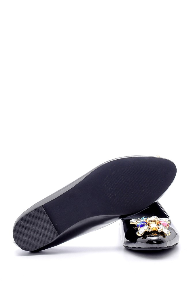 5638170657 Kadın Taşlı Rugan Ayakkabı