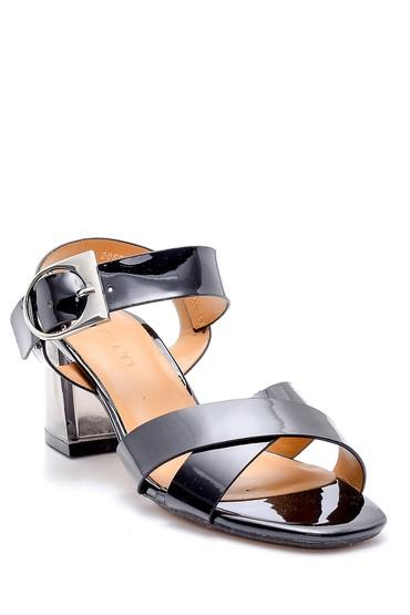 Siyah Kadın Şeffaf Topuklu Sandalet 5638132919