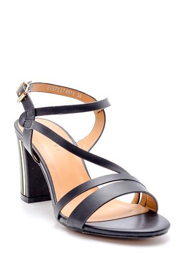 Siyah Kadın Topuklu Sandalet 5638133008