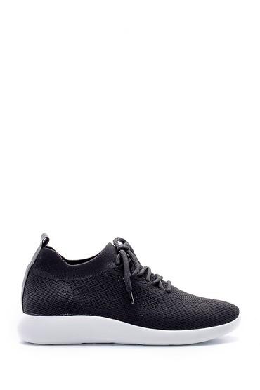 Siyah Kadın Bağcıklı Çorap Sneaker 5638176527