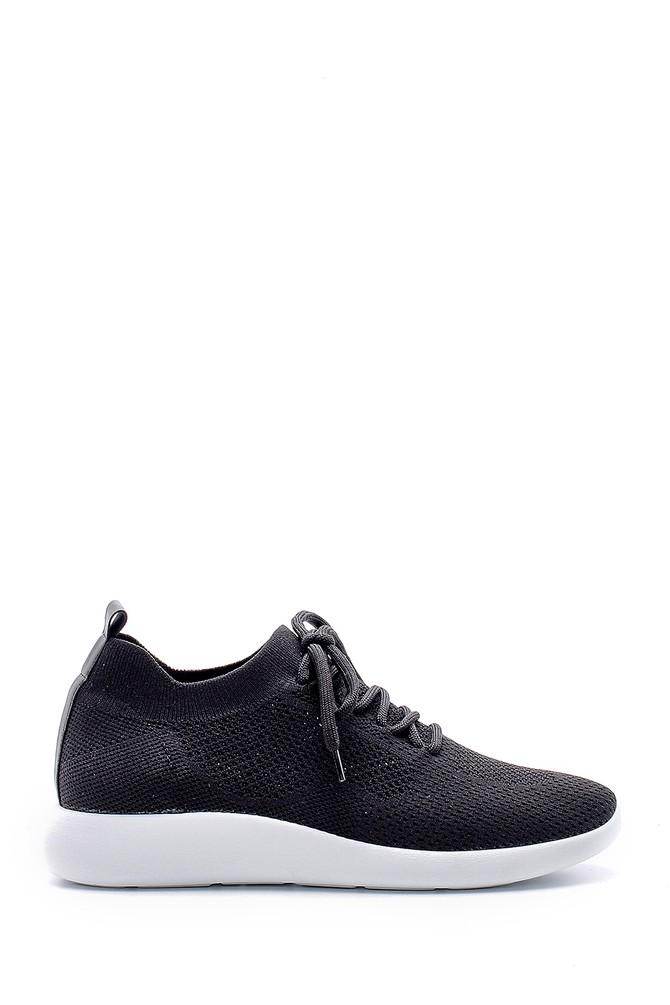 Siyah Kadın Bağcıklı Çorap Sneaker 5638176547