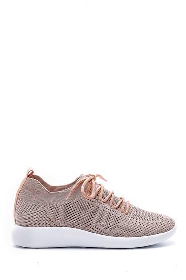 Bej Kadın Bağcıklı Çorap Sneaker 5638176531