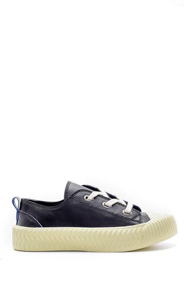 Siyah Kadın Deri Sneaker 5638182005