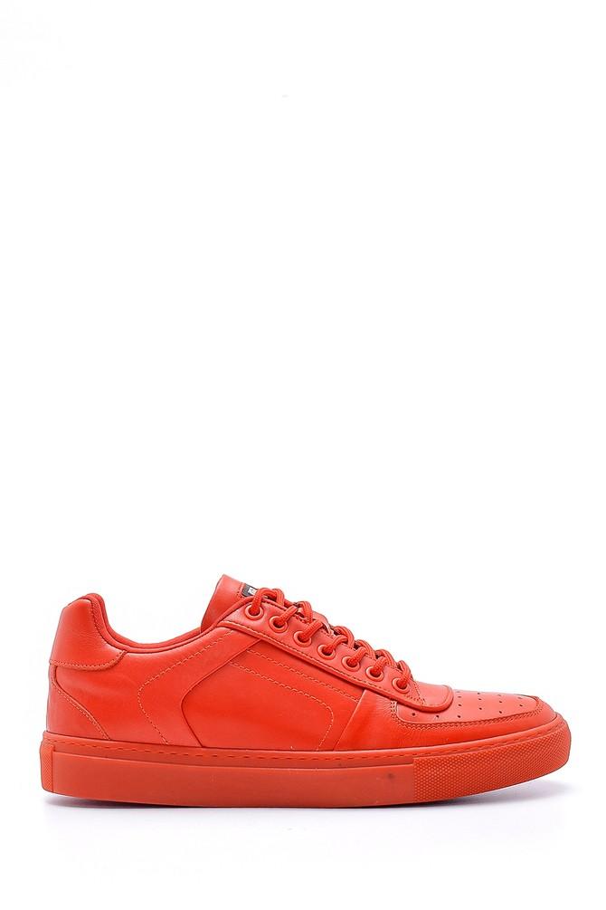 Kırmızı Erkek Deri Sneaker 5638143152