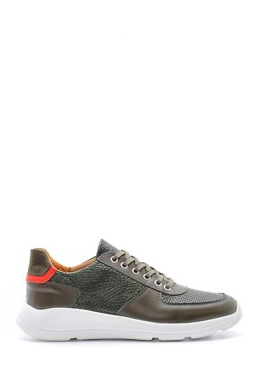 Yeşil Erkek Deri Sneaker 5638148381