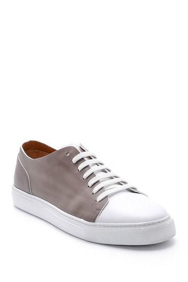 Gri Erkek Deri Sneaker 5638159137
