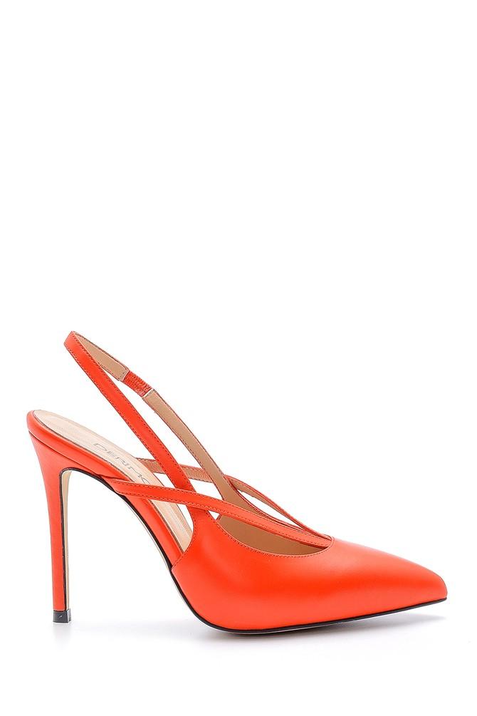 Kırmızı Kadın Deri Stiletto 5638161351