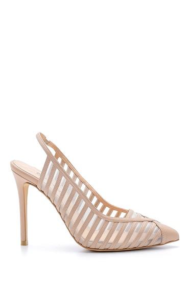 Vizon Kadın Deri Topuklu Ayakkabı 5638161390