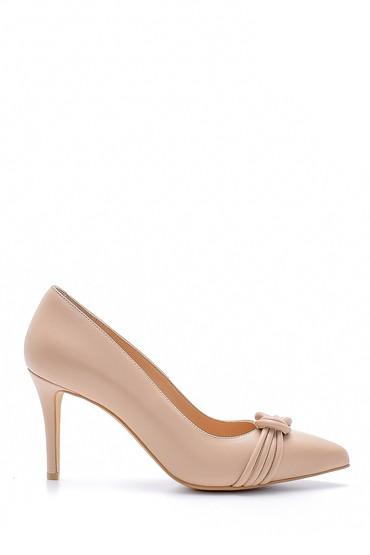Kahverengi Kadın Deri Stiletto 5638161408
