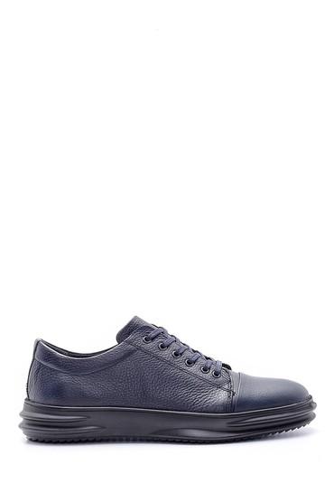 Lacivert Erkek Deri Sneaker 5638172082