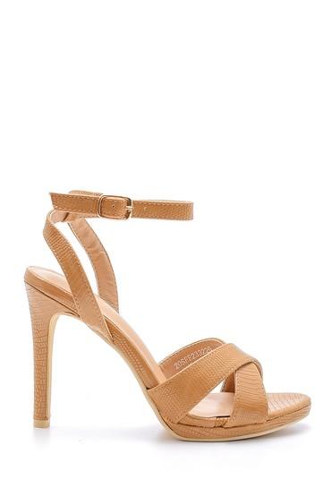 Bej Kadın Topuklu Sandalet 5638136459