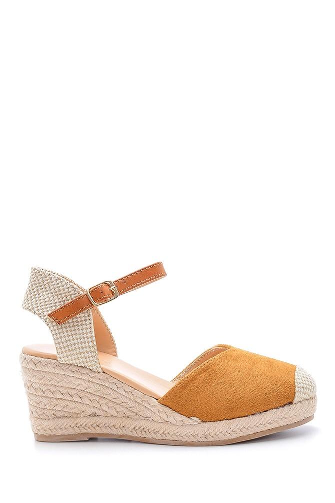 Kahverengi Kadın Dolgu Topuklu Sandalet 5638123708