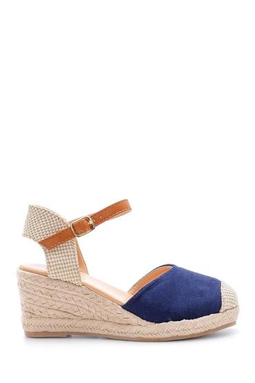 Lacivert Kadın Dolgu Topuklu Sandalet 5638123710