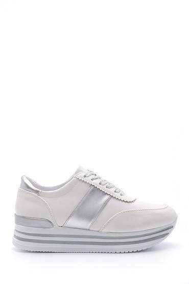 Beyaz Kadın Yüksek Tabanlı Sneaker 5638121106