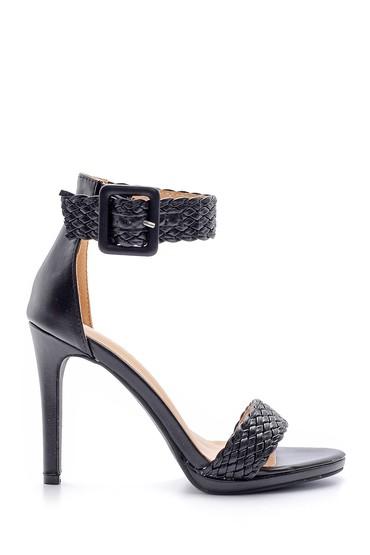Siyah Kadın Topuklu Sandalet 5638136385