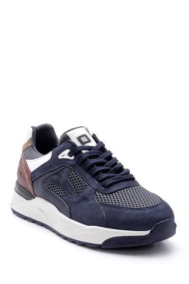 Lacivert Erkek Deri Sneaker 5638144260