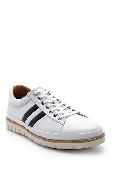 Beyaz Erkek Deri Sneaker 5638147059