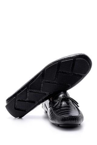 Erkek Kroko Detaylı Deri Loafer