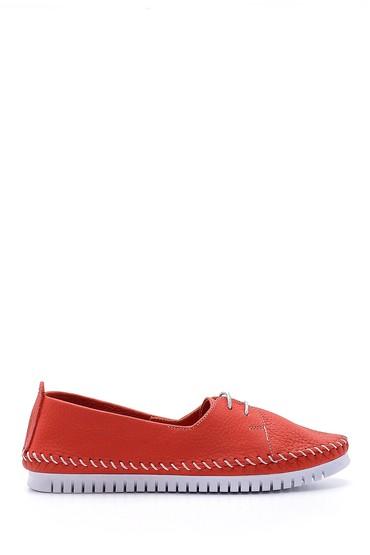 Kırmızı Kadın Deri Ayakkabı 5638151824