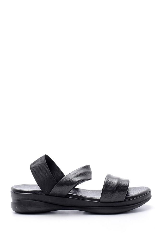 Siyah Kadın Deri Sandalet 5638152797