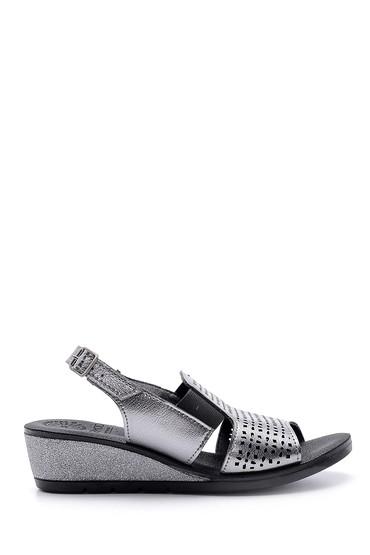 Gri Kadın Metalik Sandalet 5638160196