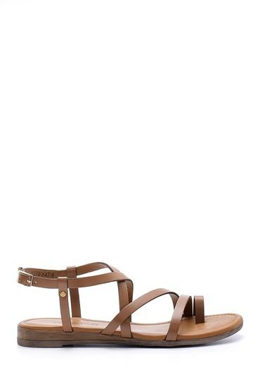 Kahverengi Kadın Deri Sandalet 5638161578