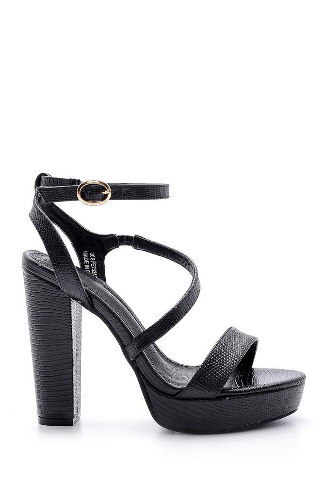 Siyah Kadın Topuklu Ayakkabı 5638136061