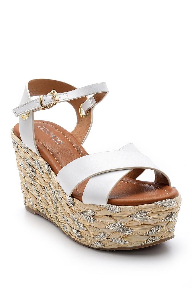 5638145278 Kadın Dolgu Topuklu Sandalet