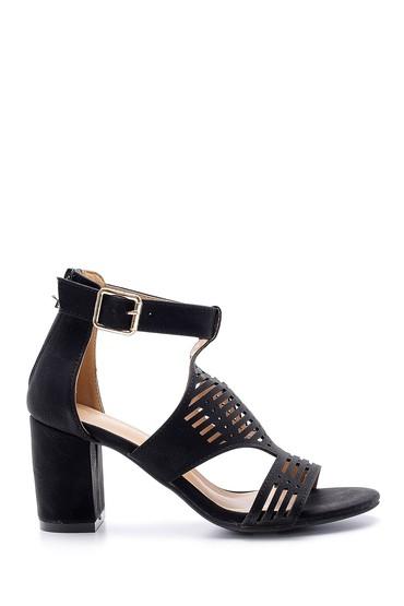 Siyah Kadın Topuklu Sandalet 5638123743