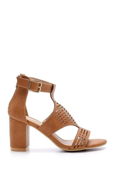 Kahverengi Kadın Topuklu Sandalet 5638123749