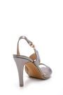 5638123809 Kadın Metalik Topuklu Sandalet