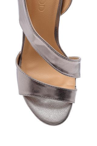 Kadın Metalik Topuklu Sandalet