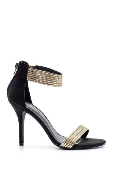 Sarı Kadın Gold Detaylı Topuklu Ayakkabı 5638123819