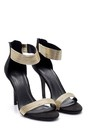 5638123819 Kadın Gold Detaylı Topuklu Ayakkabı