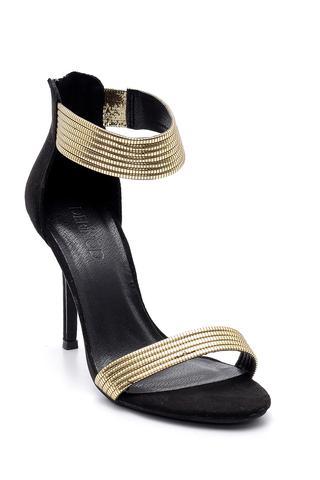 Kadın Gold Detaylı Topuklu Ayakkabı