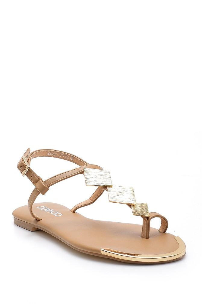 5638128601 Kadın Metal Detaylı Sandalet