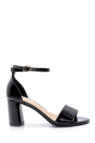 Siyah Kadın Kalın Topuklu Sandalet 5638128889