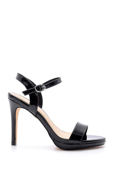 Siyah Kadın Rugan Topuklu Ayakkabı 5638128988