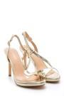 5638129041 Kadın Metalik Topuklu Ayakkabı
