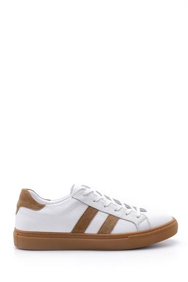 Beyaz Erkek Deri Sneaker 5638143100
