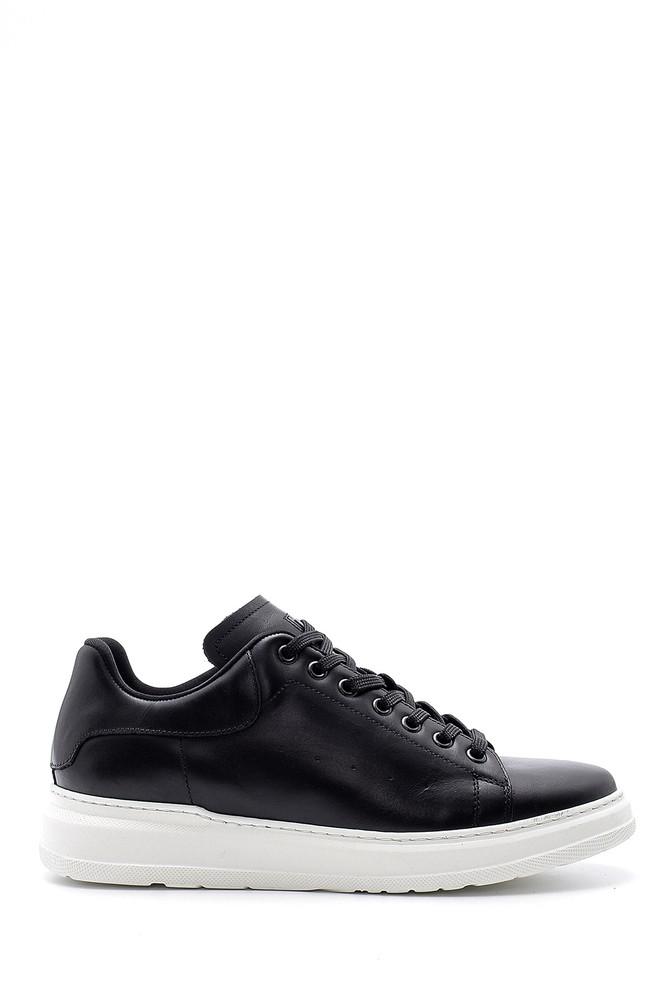 Siyah Erkek Deri Sneaker 5638144285