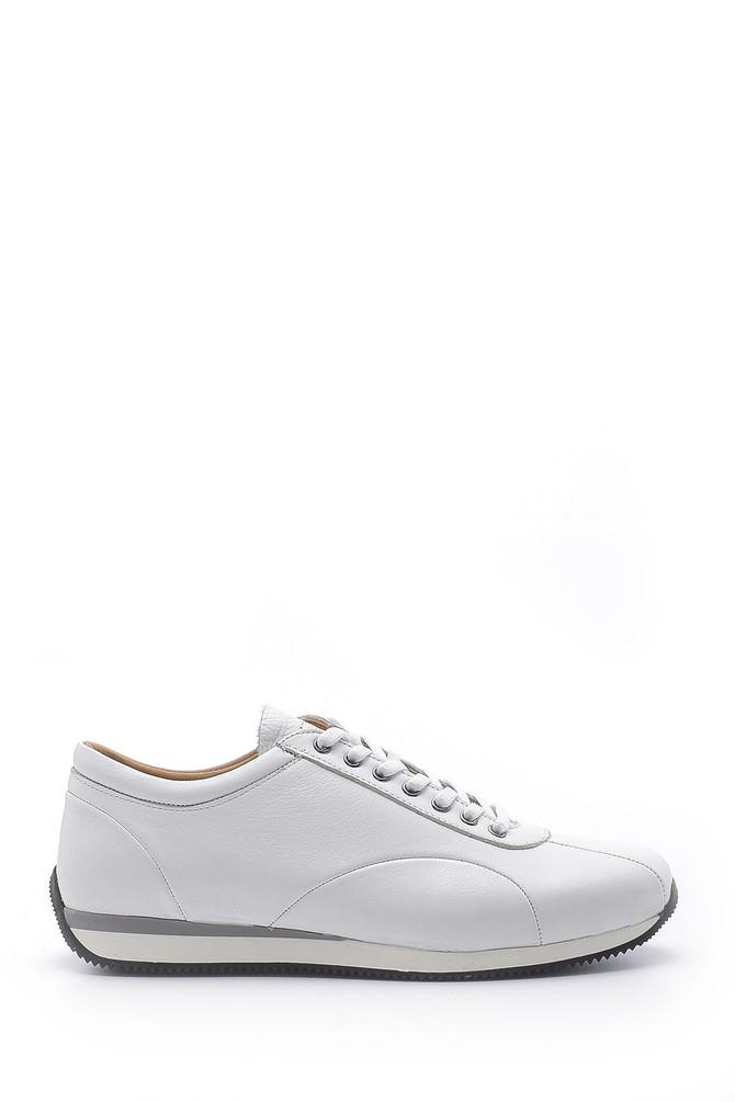Beyaz Erkek Deri Sneaker 5638147171