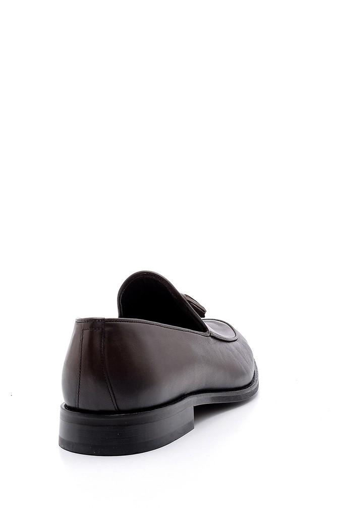 5638152170 Erkek Püskül Detaylı Deri Loafer