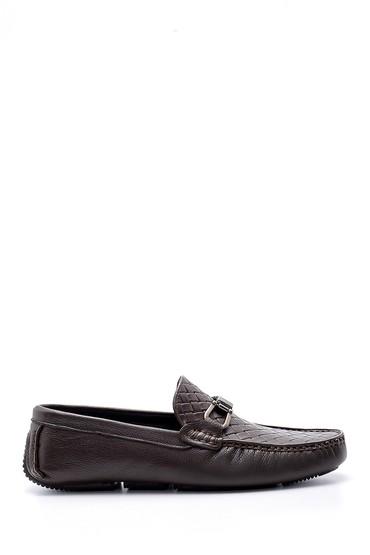 Kahverengi Erkek Deri Toka Detaylı Loafer 5638155099