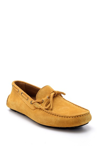 Sarı Erkek Süet Deri Loafer 5638158850