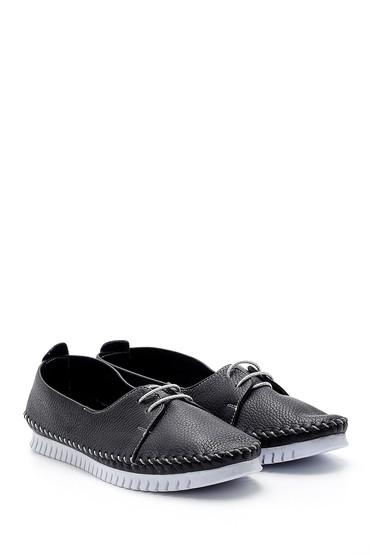 Siyah Kadın Deri Ayakkabı 5638151806